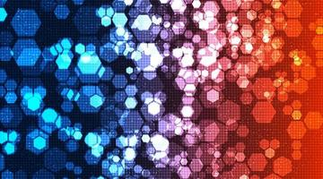 circuito colorido polígono tecnologia fundo alta tecnologia digital e design de conceito de segurança vetor