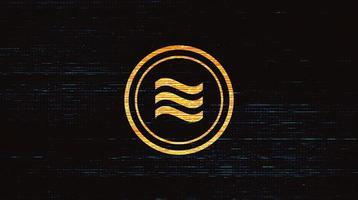 símbolo de criptomoeda libra de vetor em fundo de tecnologia digital, blockchain e design de conceito de carteira