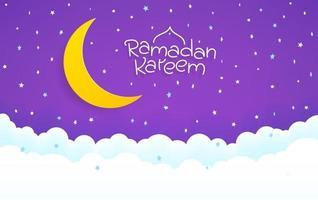 cartão islâmico do feriado. ramadan kareem