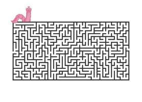 jogo de labirinto para crianças que aprendem em casa. tarefa de quebra-cabeça do labirinto. forma de enigma de lazer em casa, procure o caminho certo. vetor