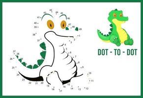 jogo ponto a ponto para crianças de ensino doméstico. página para colorir para a educação de crianças. vetor