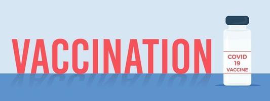 cartaz do conceito de vacinação. ilustração médica do vetor. imunização por injeção cuidados de saúde. vetor