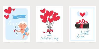 cartão de dia dos namorados com coração vermelho. amo você banner. feriado romântico cartaz do dia dos namorados ou cartão de felicitações. vetor