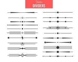 divisores conjunto de vetores de desenho caligráfico