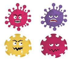 infecção de ilustração vetorial personagem de vírus vetor