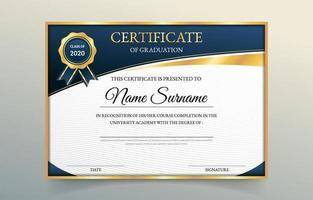 certificado de conceito de graduação vetor