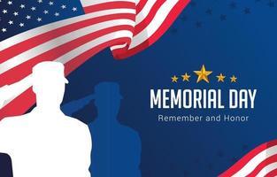 fundo do dia do memorial vetor