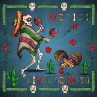 ilustração 23 design sobre o tema mexicano da celebração do cinco de mayo vetor