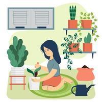 o conceito de jardinagem com um doce hhme vetor