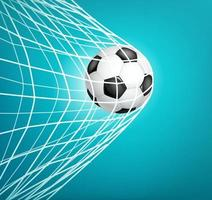 bola de futebol na rede. meta. vetor