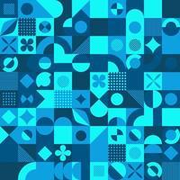 fundo do vetor do estilo do mosaico azul