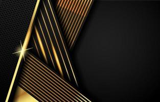fundo de tiras pretas e douradas vetor