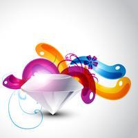 diamante elegante colorido vetor