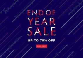 banner de venda de fim de ano. design de modelo de banner de venda. vetor