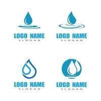 projeto de ilustração vetorial modelo de logotipo de gota d'água vetor
