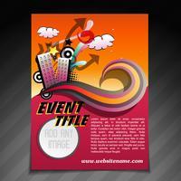 modelo de folheto de brochura de evento vetor
