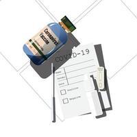 kit de teste covid-19 e vacina vetor