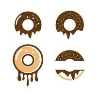 conjunto de ilustração de imagens de logotipo de donut vetor