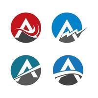 letra a conjunto de imagens de logotipo vetor