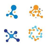 conjunto de design de logotipo de molécula vetor