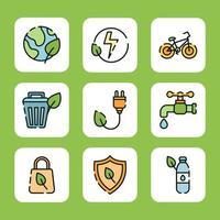 eco verde para um mundo melhor vetor