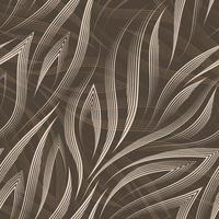 padrão sem emenda de vetor de linhas bege e cantos em um fundo marrom. textura de formas e linhas fluidas para o fluxo do mar em tons pastel
