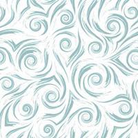 estoque vetor padrão sem emenda. ondas ou respingos de água. textura abstrata de pinceladas azuis sobre fundo branco.