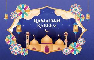 desenho de ornamento ramadan kareem vetor