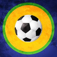 design de futebol colorido vetor