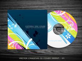 design de capa de cd colorido vetor