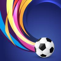 design de futebol de estilo de onda vetor