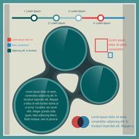 modelo de infográfico elegante vetor