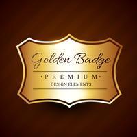 elemento de design de etiqueta de distintivo dourado premium vetor