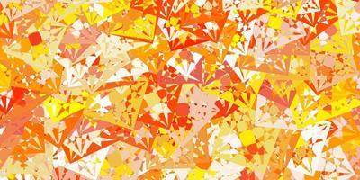 padrão de vetor laranja claro com formas poligonais.
