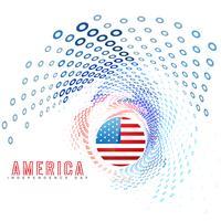 dia da independência americana vetor