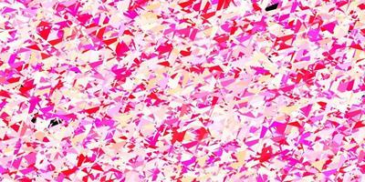 fundo vector rosa claro, amarelo com triângulos.