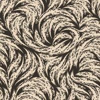 textura sem costura grunge bege de arcos rasgados em um fundo marrom. padrão abstrato para impressões ou faixas de embalagem de giz ou carvão. vetor