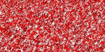 padrão de vetor vermelho claro com estilo poligonal.