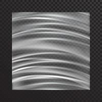 maquete de vetor de filme plástico branco desigualmente esticado em estilo realista