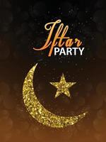 cartão de convite criativo de panfleto de festa iftar vetor