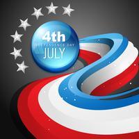4 de julho dia da independência americana vetor