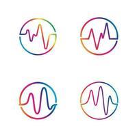 modelo de ícone de vetor de onda sonora