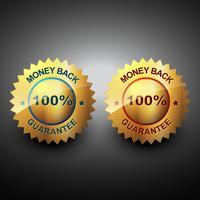 garantia de devolução de dinheiro vetor