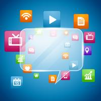 design de conceito de mídia social