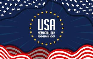 comemorando o dia do memorial da américa vetor