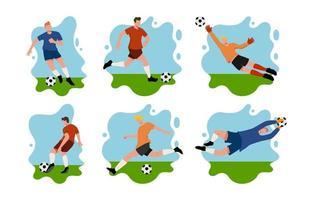 personagens jogadores de futebol vetor