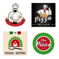 emblema de vetor de pizza. vetor livre.