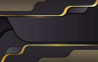 modelo de fundo preto e dourado vetor