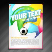 design de modelo de cartaz de folheto de futebol vetor