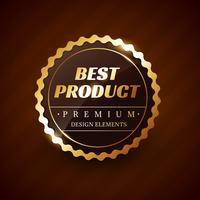 melhor design de rótulo de vetor de produto premium